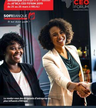 La SOFIBANQUE est fière de sponsoriser l'Africa CEO Forum qui réunira tous les grands décideurs du continent africain!