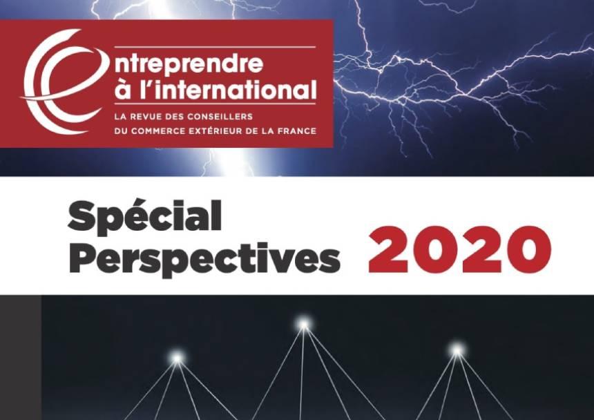 PUBLI REPORTAGE DANS LA REVUE DES CONSEILLERS DU COMMERCE EXTERIEUR DE LA FRANCE (SPECIAL PERSPECTIVES 2020)